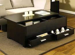 black coffee table with storage living room round wood coffee table with glass top small side coffee