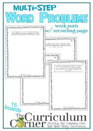 multi step word problems 5th grade printable multi step word problem work mats the curriculum corner 4 5 6