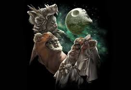 lol three ewok moon t shirt