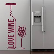 love wine bottle wine glass wall art stickers decal home diy love wine bottle wine glass wall art stickers decal home diy decoration decor wall mural removable