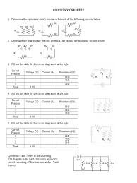 Parallel Circuit Problems Worksheet Circuits Worksheet Series And Parallel Circuits Electrical