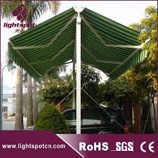 Commercial Retractable Awnings Aluminum Retractable Double Side Standing Big Aluminum Carport