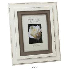 shabby chic photo frame white wooden distressed photo frame 4 x 6