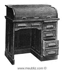 bureau americain cylindre demi bureau américain à rideau meuble classique