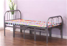 Portable Folding Bed Simple Tri Fold Portable Folding Bed Fold Away Cot With Steel Pipe