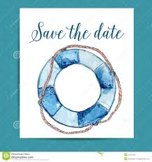 nautical save the date save the date card layout for nautical wedding stock vector