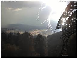 Baden Blitz Webcam Der Schauinslandbahn Zeigt Wie Ein Blitz Einschlägt
