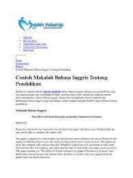 artikel format paper ilmiah contoh makalah bhs inggris pendidikan curriculum libraries
