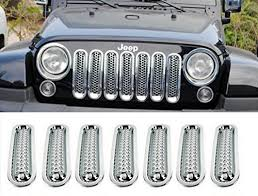 jeep wrangler front grill opall chrome front grill mesh grille insert kit for jeep import it all