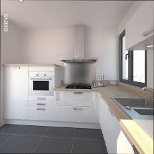 cuisine sol gris cuisine bois cuisine blanche plan de travail bois sol gris