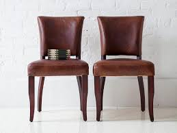 Dark Brown Leather Chairs Tufted Leather Dining Chairs Dark Brown Finish Brown Leather