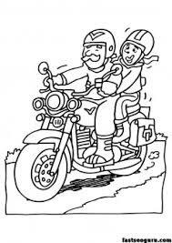 grandpa drive motorcycle coloring page printable coloring pages