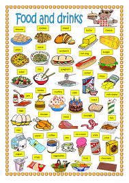 45 free esl food and drinks worksheets