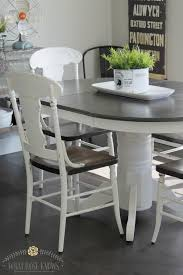 used kitchen furniture farmhouse style painted kitchen table and chairs makeover
