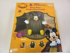 disney mickey mouse pumpkin push in halloween decoration ebay