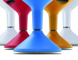 jari activstool adjustable wobble stool u2013 blue u2013 straight up