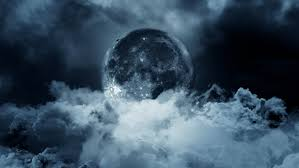 moon and clouds at by vadimys videohive
