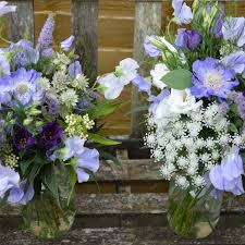 Bridesmaids Bouquets Blue Wedding Flowers Bettie Rose Brighton