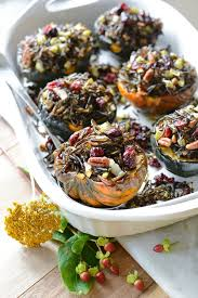thanksgiving rice stuffed acorn squash simple seasonal