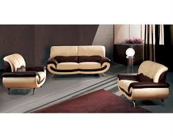Fancy Leather Chair European Furniture Modern Two Tone Sofa Set 33ss11