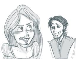 tangled sketches by sunni sideup on deviantart