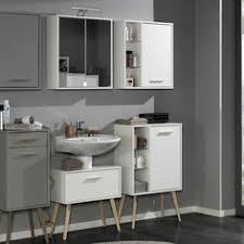 retro badezimmer retro badezimmer set in weiß buche mit spiegelschrank 4 teilig