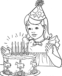 happy birthday cake coloring pages girls coloring point