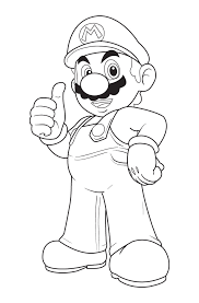 coloring pages free super mario brothers coloring pages mario
