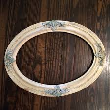 antique oval frame wall decor chairish image of haammss