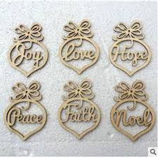 Letter Decorations For Christmas Tree by 2017 New Year Wooden Letter Christmas Tree Decorations Christmas