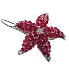 starfish hair clip starfish hair clip sea use swarovski silver base