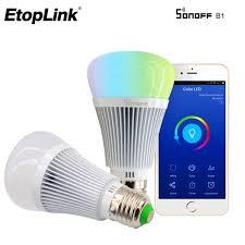 alexa controlled light bulbs sonoff b1 led bulb wifi smart light bulbs remote control wifi dimmer