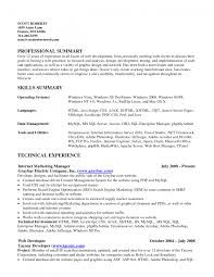 objective for resume server resume example summary section special sections in resumes of gallery of objective section on resume