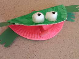 frog paper plate craft laura williams