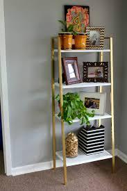 ikea shelf makeover white and gold