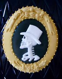 Halloween Cookie Cakes Oh Sugar Events Skull Cameo Cookies