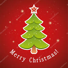 vector christmas tree greeting card u2014 stock vector dmstudio