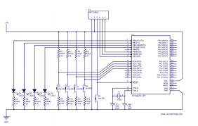 Led Blinking Circuit Diagram How To Handle Digital Input Output I O In Avr Microcontroller