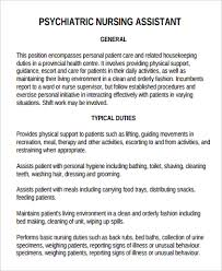 Sample Resume For Dietary Aide by Dietary Aide Job Description Psychiatric Nursing Assistant Job