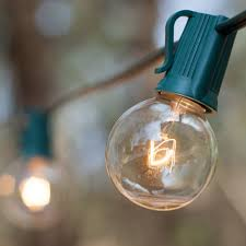 Outdoor Patio String Lights Globe by Patio Lights Commercial Clear Globe String Lights 25 G40 E17
