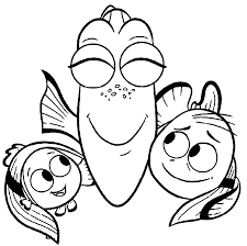 Coloring Pages Of Baby Dory Murderthestout Nemo Color Pages