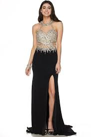 prom dresses sheer illusion neckline floor leng u2013 simply fab