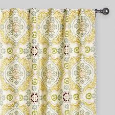 Multi Color Curtains Multicolor Mosaic Concealed Tab Top Curtains Set Of 2 World Market
