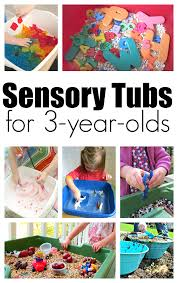10 sensory tubs for 3 year olds no time for flash cards