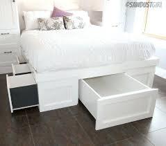 6 Drawer Bed Frame Platform Bed Storage Best Platform Bed Frame With