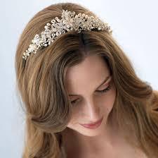 vintage bridal hair bridal tiara pearl wedding crown rhinestone wedding