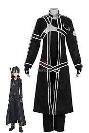 Men Black Halloween Costume Buy Sword Art Kirito Cosplay Costumes Rolecosplay