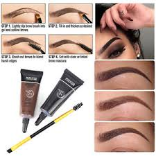 henna eye makeup 1pcs mascara eyebrows brush 2pcs brown waterproof tint eyebrow