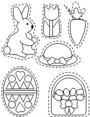 easter ornaments learning printables for kids