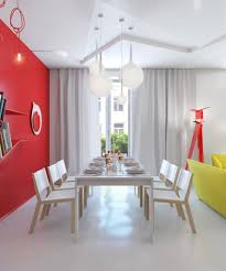 Ideas For Dining Room Walls Dining Lovely Red Dining Room Wall Decor Living Interior Design